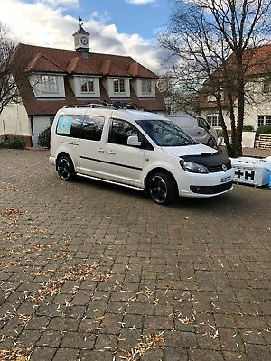 Vw caddy maxi 7 seater white color 1.6 2012