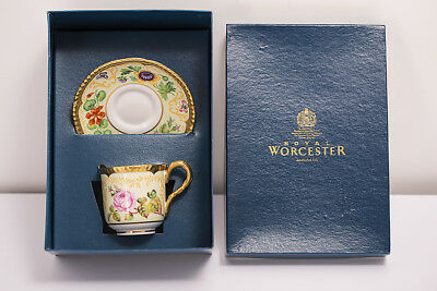 Royal Worcester Samuel Astles English Flowers Coffee Cup and Saucer