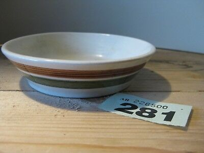 Vintage Dragon Pottery Wales Welsh Studio Pottery Round Bowl Dish Brown Green
