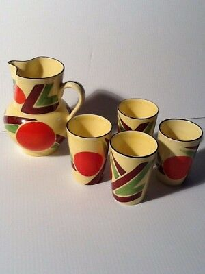 Pitcher And 4 Glasses
