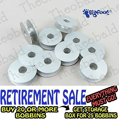 10 Quality Aluminium Sewing Bobbins For Singer Featherweight 222K & 221K