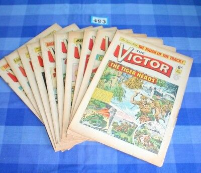 The Victor Comic 10 x Consecutive Issues 520 to 529 from 1971