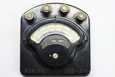Weston Model 280 DC Ammeter Anitque Steampunk