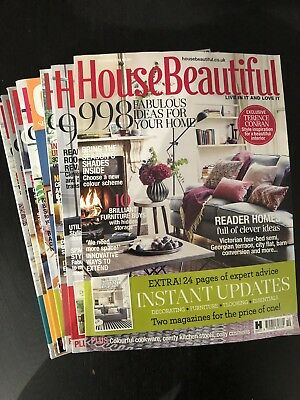 House Beautiful Magazine From 2016 To 2018 Refer To Images