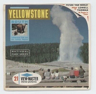 YELLOWSTONE NATIONAL PARK SOUTH Viewmaster National Park Series packet A306 mint