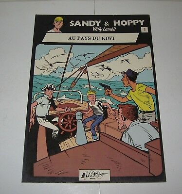 SANDY & HOPPY,AU PAYS DU KIWI,EO 1980 TBE, W.LAMBIL,MAGIC STRIP,dans SPIROU