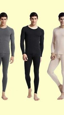 71eaa6764dc Mens 2 pc Thermal Underwear Set Long Johns Waffle Knit Top Bottom S M L XL  2X 3X