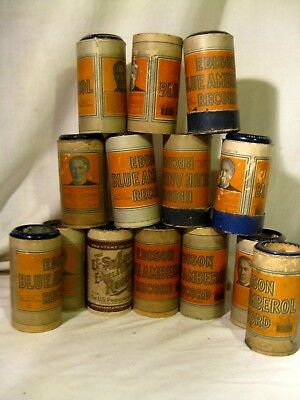 14 Cased 4 Minute Amberol Phonograph Cylinders