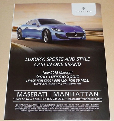 Maserati Grand Turismo Sport  Sports Car Advertisement -I 2015