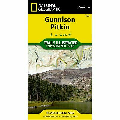 National Geographic Gunnison Pitkin Trails Illus Topo Map - CO - #132