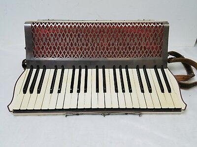 Vintage Lyric Full Size 41/120 Piano Accordion Needs Repair