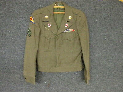 WWII US ARMY IKE JACKET-5TH INFANTRY DIVISION-21st FIELD ARTILERY REGT-7th ARMY