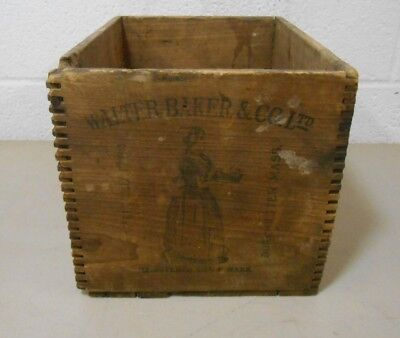 Early 20Th C Vintage Chocolate Wood Crate Walter Baker & Co. Ltd. Dorchester Ma.