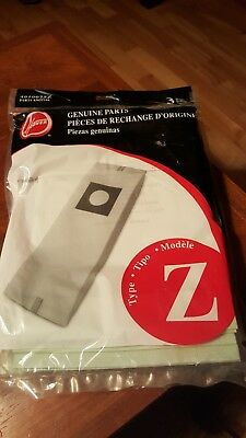 NEW GENUINE Hoover Type Z Vacuum Bags 3 Pk Part 4010075Z Part 43655104