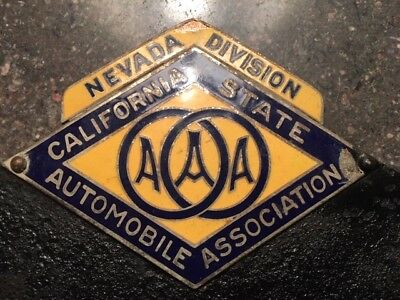 California - Nevada Division - AAA Porcelain License Plate Topper