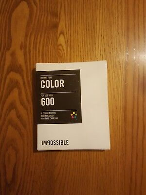 Impossible  Color Instant Film for Polaroid 600 Camera exp 8/15