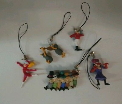 .99 CENT MOVING SALE HANNA BARBERA WACKY RACES MOBILE PHONE CHARMS SET of 5