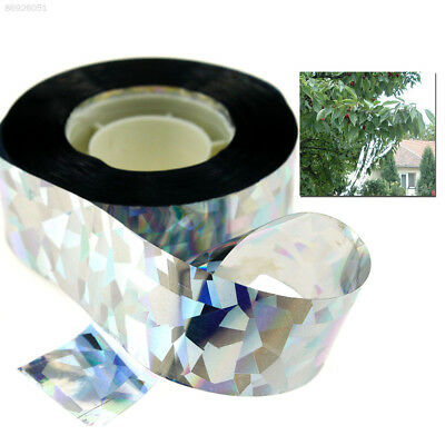 8767 295ft Visual Audible Reflective Repeller Ribbon Flash Bird Scare Tape 90M
