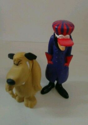 .99 Cent Moving Sale Hanna Barbera Wacky Races Figures Dick Dastardly & Muttley