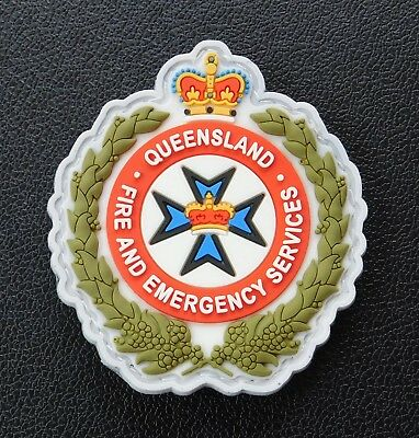 Queensland Fire & Emergency Services Rubber patch -Collectors Patch Not Official