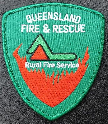 Queensland Fire & Rescue RFS Green patch - Collectors Patch Not Official