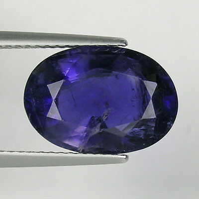 4.76 ct  SHIMMERING LUSTROUS PURPLE BLUE NATURAL IOLITE - Oval -  3480