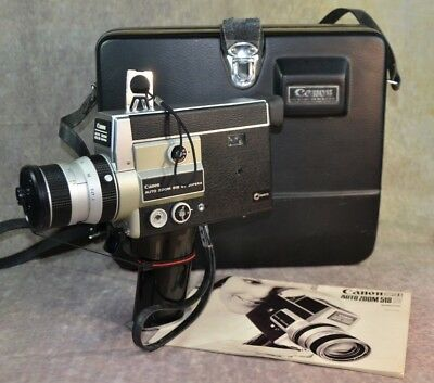 【WORKING】CANON 518 SV Super 8 MOVIE CAMERA  FILM TESTED 18-24 - 36 FPS Excellent