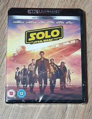 Solo A Star Wars Story 4K UHD Blu-Ray Brand new.  Fast & free postage.
