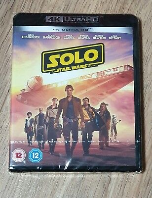 Solo A Star Wars Story 4K UHD Brand new & unopened. Fast & free postage.