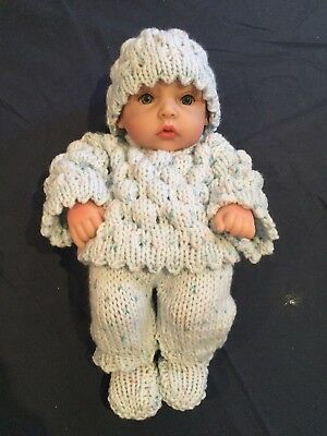 Hand Knitted Dolls Clothes For 10 Inch Doll