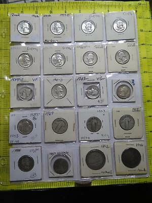 Washington Standing Liberty Barber Columbian Booker T 50 25 Cents 90% Coin Lot
