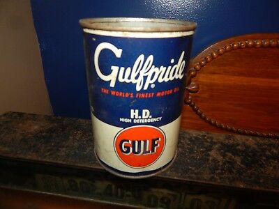 vintage gulf oil can- no lid