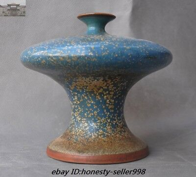 "A  6""Rare Old Dynasty China jun kiln porcelain glaze zun cup pot jar Bottle Vase"