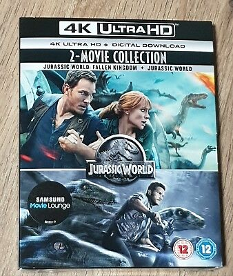 2 Movies 4k UHD Jurassic World Collection + Download Codes + Slip Cover. Sealed
