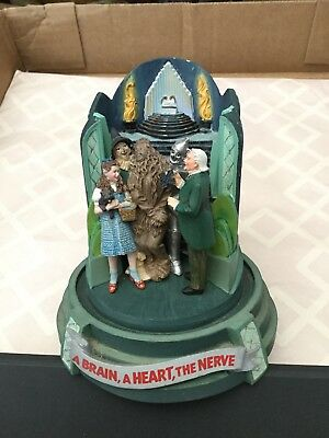 The Franklin Mint Wizard of Oz A Brain, A Heart, The Nerve Music Box