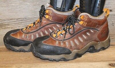 9eb009e5996 Timberland Pro Mudslinger Mens Brown Leather Steel Toe Work/hiking Boots Sz  11M