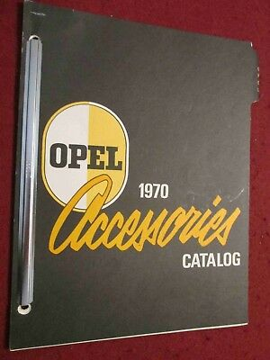 1970 Buick Opel & GT Accessories Catalog; Scarce Dealer Looseleaf Set, Bound