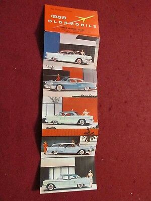 1958 Oldsmobile Business-Card Size Sales Folder: Two-Sided! SCARCE!