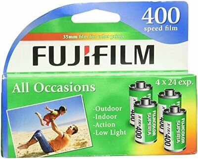 2 PACK Fujifilm Superia X-TRA 400 35mm Film 4x24 exp 02/19 & 03/19 Discontinued