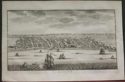 Somba Opu City South Sulawesi Indonesia 1757 Bellin/van Schley Rare Antique View