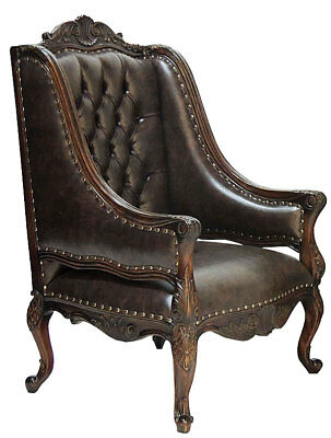 BUCKINGHAM LIBRARY CHAIR, bequemer CHESTERFIELD SESSEL, OLD ENGLAND OHRENSESSEL
