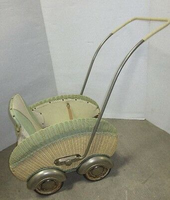Antique Stroller Art Deco Fabulous Baby Doll 1920-1930 Wicker Buggy Carriage