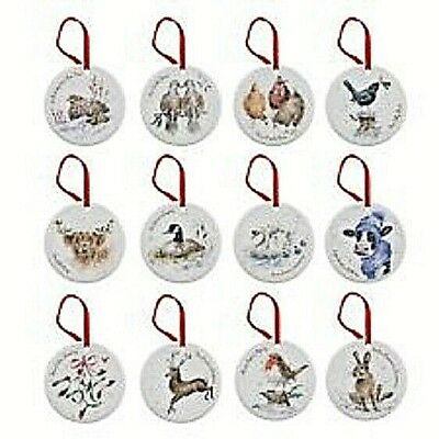 Royal Worcester Wrendale  - 12 Days of Christmas  - Tree Decorations BNIB