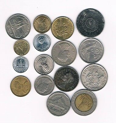 THAILAND  16 OLD COINS  see scan !!!   NICE COLLECTION !!