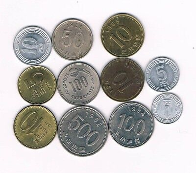 KOREA 11 OLD COINS  !!!  See scan !!