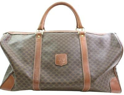 31115de8929 Céline Boston Macadam Monogram Duffle Brown Canvas Weekend/Travel Bag 866114