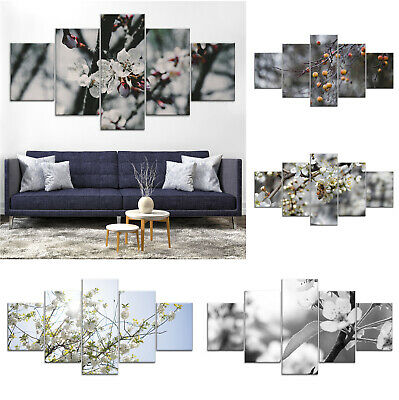 Apple Tree Blossom Flower Canvas Print Painting Home Decor Wall Art Poster gg 5P
