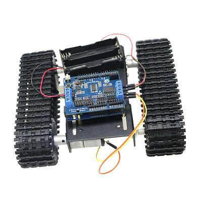 Arduino and WiFi Control Smart Robot Tank Car Chassis Kit Rubber Track