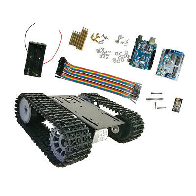 WiFi Control Smart Robot Tank Car Chassis Kit Rubber Track Arduino Kit
