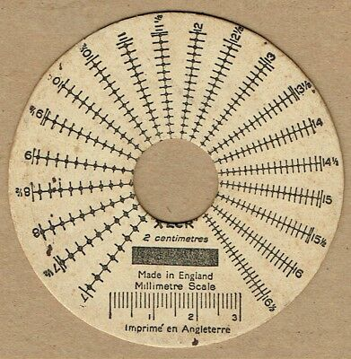 Vintage perforation gauges selection including unusual circular type
